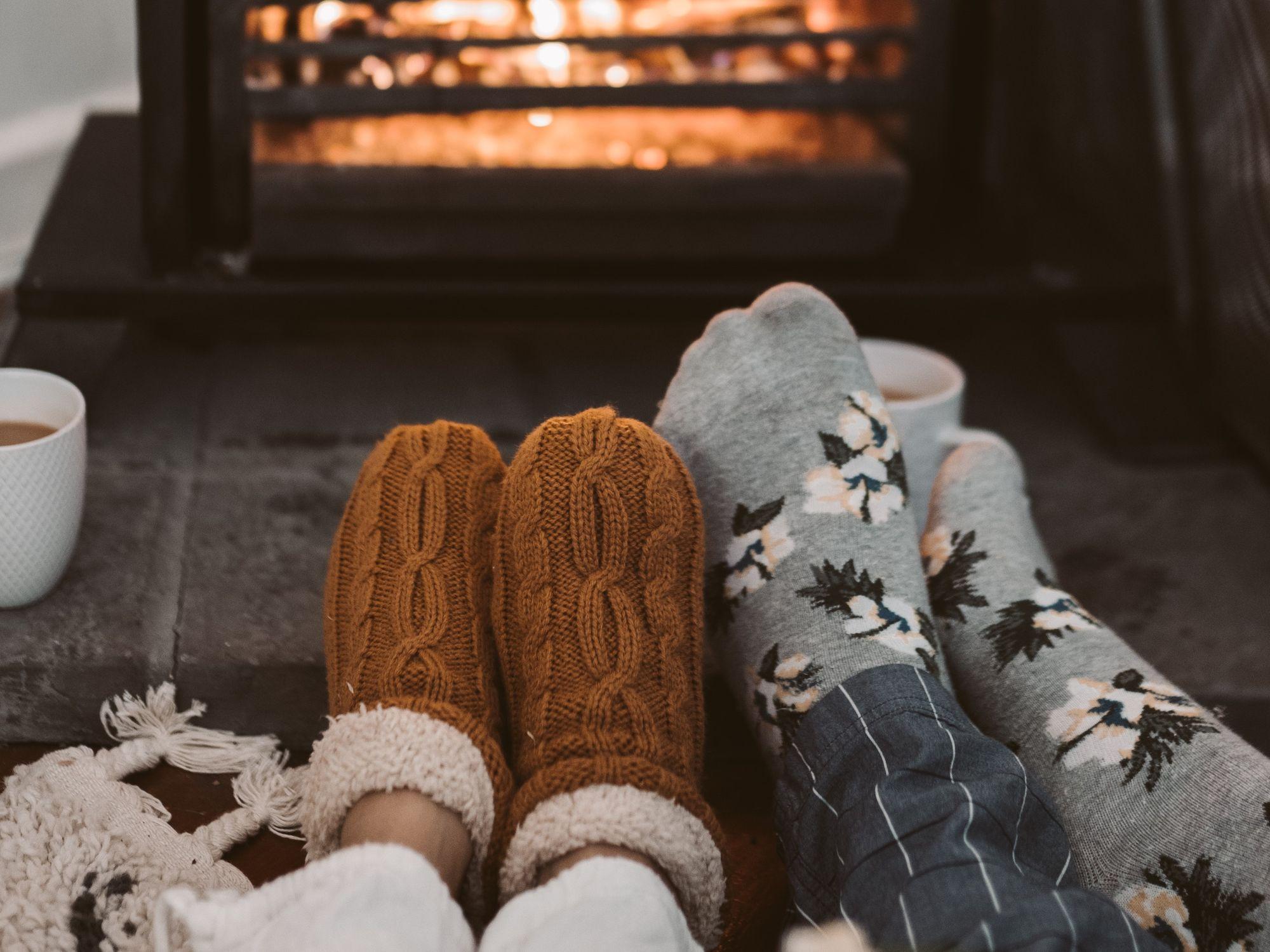 Domáce pletené ponožky