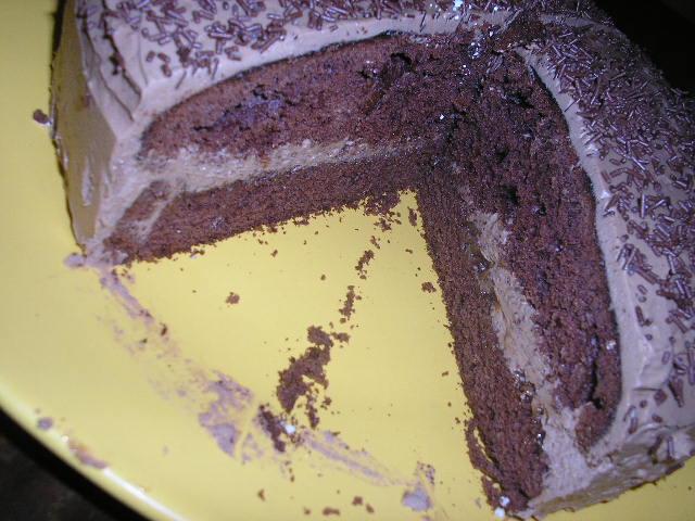 Čokoládová torta so šľahačkovo-čokoládovým krémom