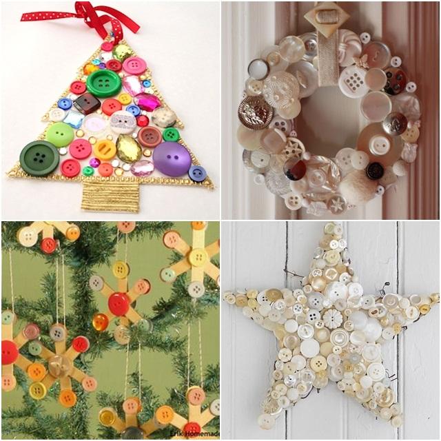 Vianočné tvorenie s gombíkmi