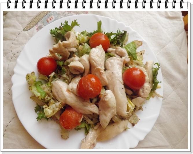 Grilované kuracie prsia so zeleninou