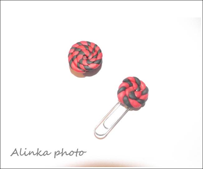 Magnetka a spinka z fimo hmoty