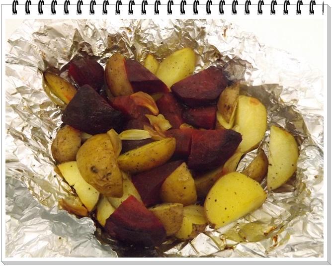 Pečená cvikla s baby zemiačikmi