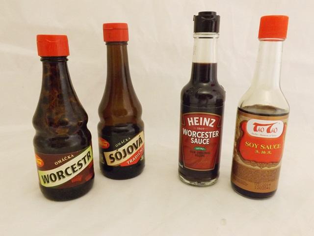 Test sójových a worcestrových omáčok
