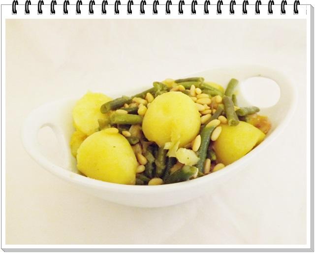 Zemiakovo-fazuľkový šalát