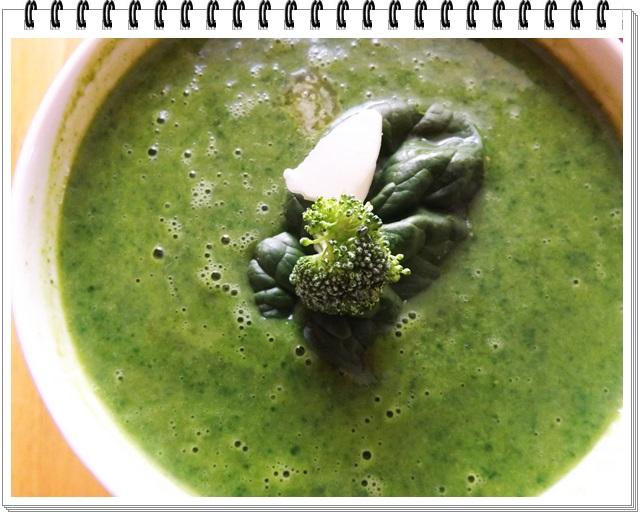 Brokolicovo-špenátová polievka