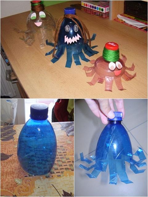 Chobotnica z pet fľaše