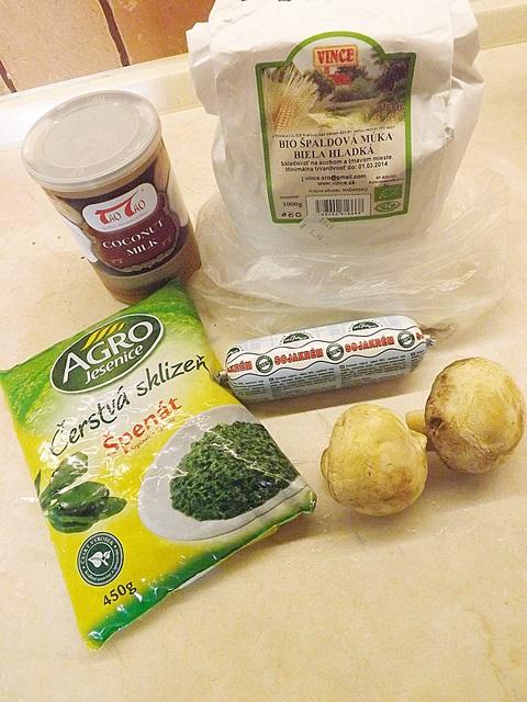 Špenátové halušky vegan verzia