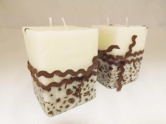 Domáce sviečky s kávovými zrnami
