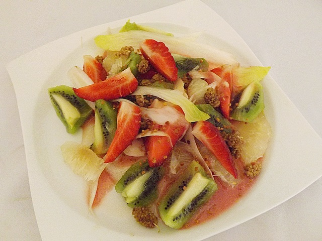 Čakankovo-ovocný šalát