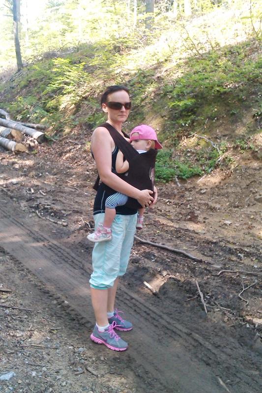 S baby vakom na horách