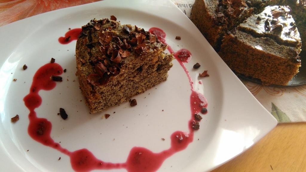 Makový vegan koláčik
