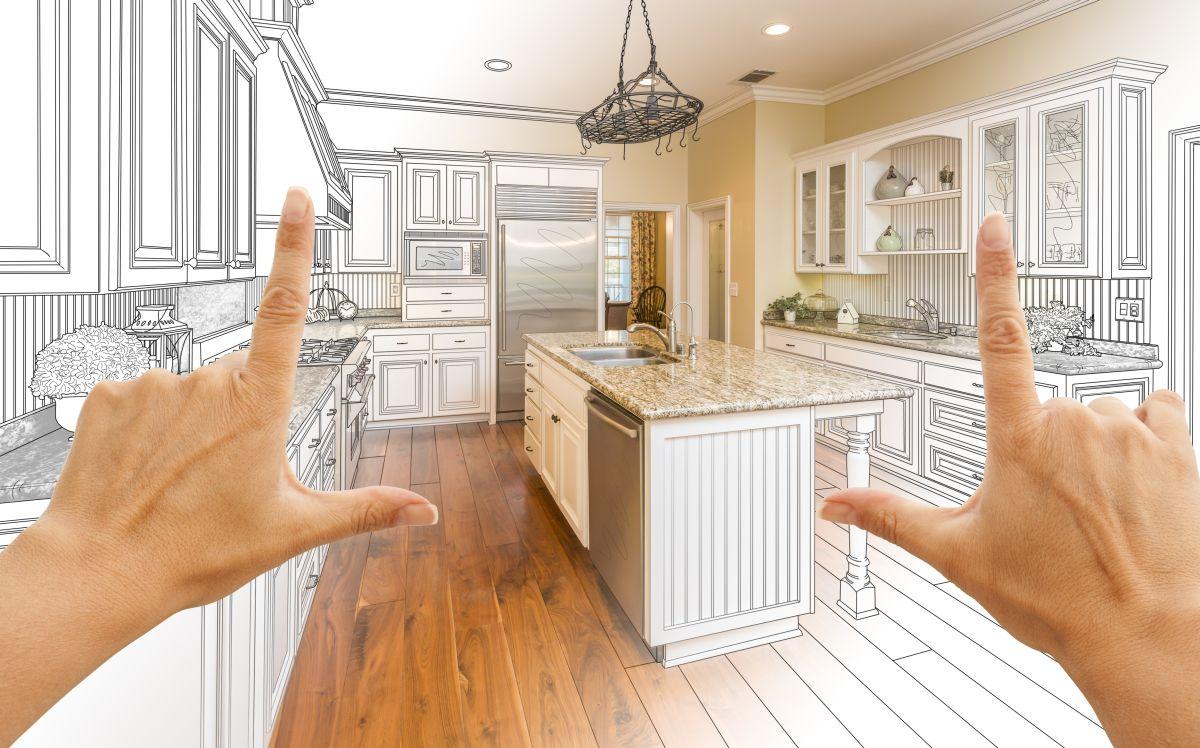 Kuchynská linka reprezentuje kuchyňu