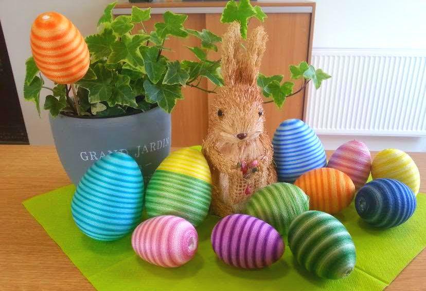 Veľkonočné vajíčka v bavlnke